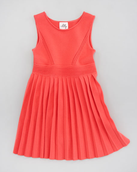 Courtney Pleated Knit Dress, Sizes 8-10