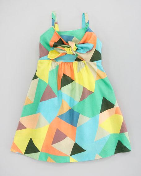 Mosaic-Print Voile Dress, Sizes 2-6