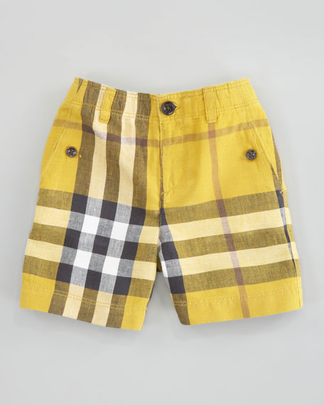 Mini Check Shorts, Gorse Yellow