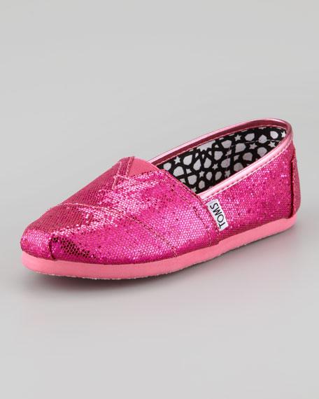 Youth Glitter Slip-On, Hot Pink