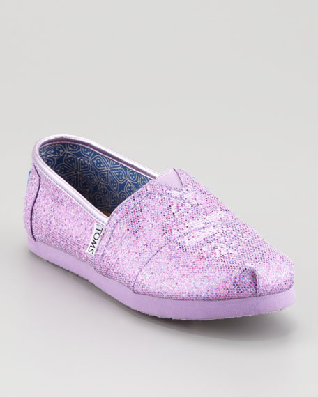 Lilac Glitter Shoe, Youth