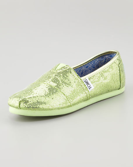 Glitter Shoe, Mint, Youth