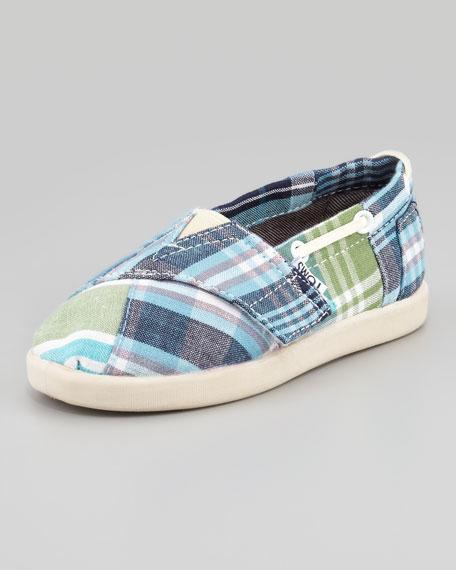 3a09d0f07d5 TOMS Bimini Blue Madras Boat Shoe