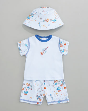 Outer Space Short Set & Hat