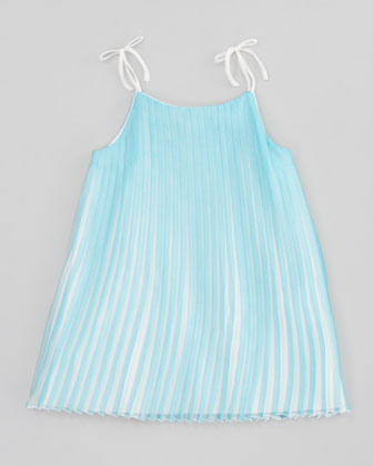 Mini-Me Satin Pleated Dress