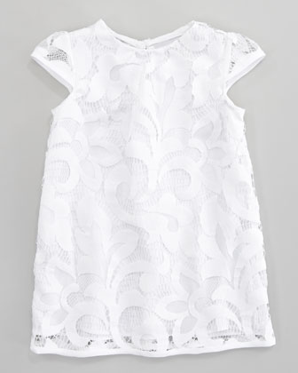 Magnolia Cap Sleeve Lace Dress