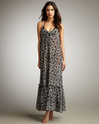 Eden Batik Coverup Maxi Dress
