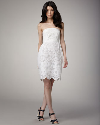 Palmetto Eyelet Dress, Marshmallow