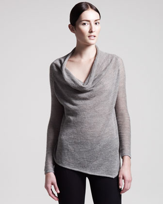 Alpaca-Linen Turtleneck