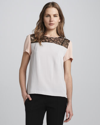 Ainslee Illusion-Neck Top