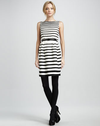 Shanghai Crystallized Striped Dress
