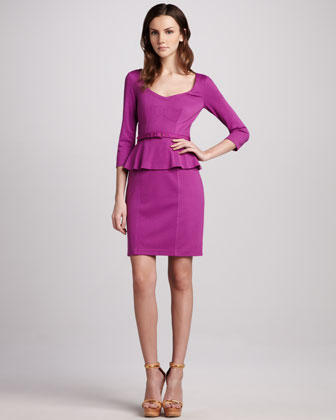 Album Cover Peplum Dress