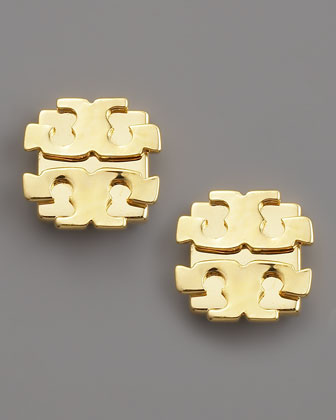 Logo Earrings, Large
