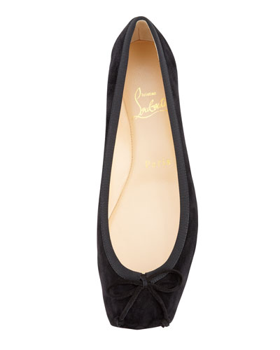 Artesur ? christian louboutin square-toe flats Black leather