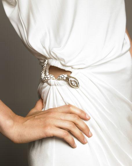 Snake-Cutout Dress