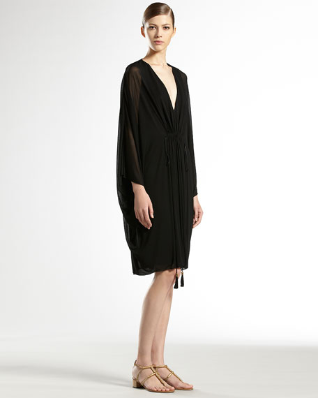 Gathered Volant Dress