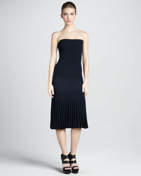 Strapless Pleated Infinity Skirt/Dress