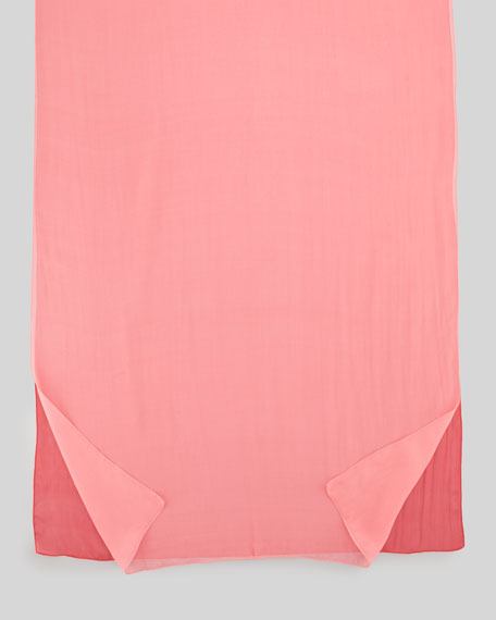 Double-Panel Silk Stole, Dragonfruit