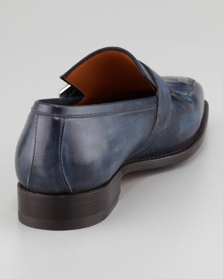 Smorfia Kiltie-Strap Loafer, Blue