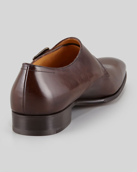 Single-Monk Leather Dress Shoe