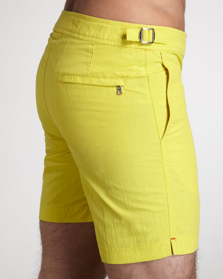 Bulldog Swim Shorts, Chartreuse
