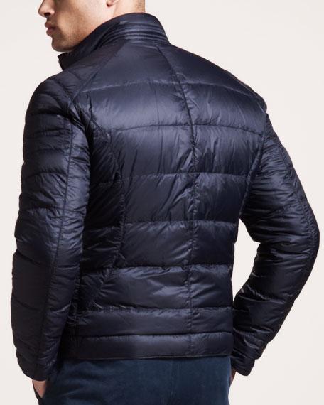 Reversible Leather Motorcycle Jacket