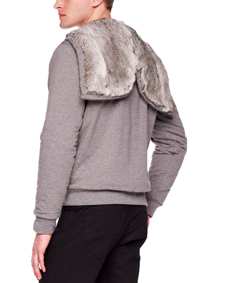 Fur-Lined Hoodie