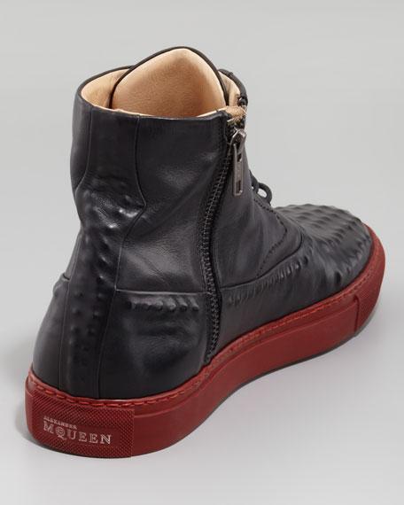 Riveted High-Top Sneaker