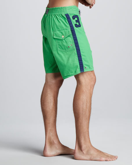 Sanibel Swim Trunks, Green/Blue