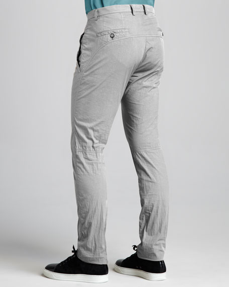 Cotton-Blend Motorcycle Pants