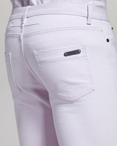 Slim-Fit Light Pink Jeans