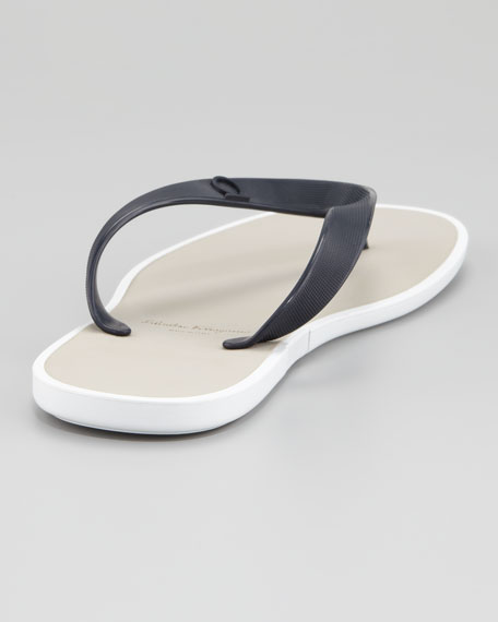Gym Rubber Thong Sandal, Blue