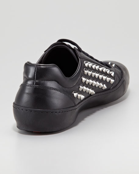 Studded Low-Top Sneaker, Black
