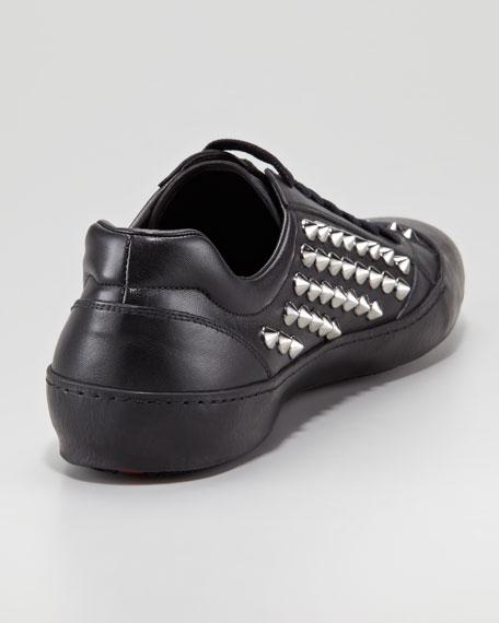 Studded Low-Top Sneaker, Black