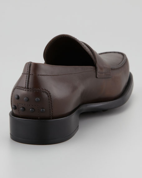 Driver-Sole Penny Loafer, Brown