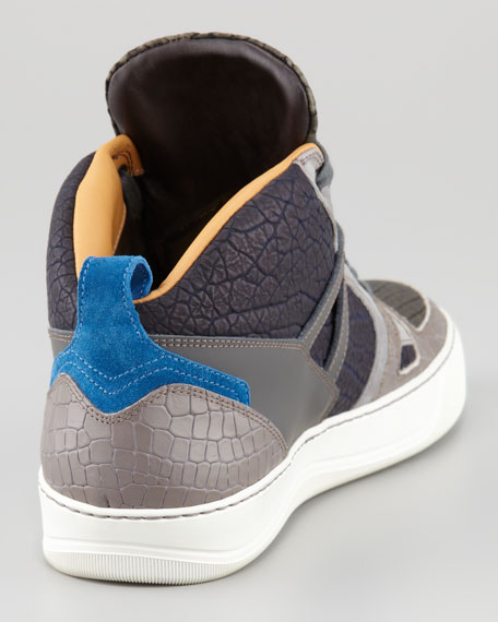 Textured Colorblock Hi-Top Sneaker