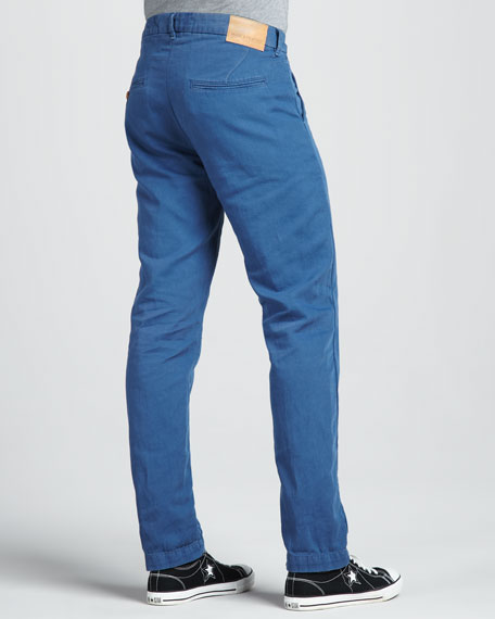 Spoke Cotton/Linen Chino Pants, Ensign Blue