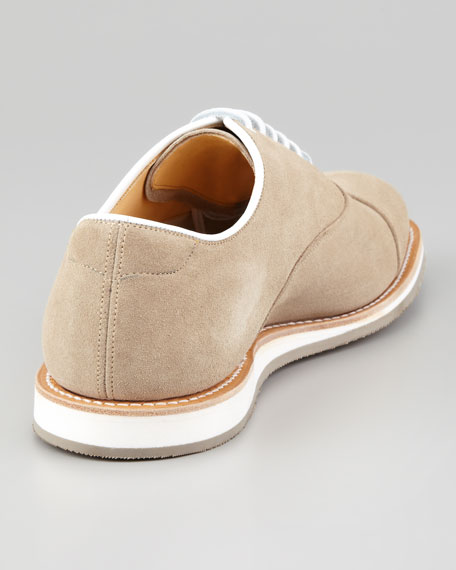 Hirst Suede Lace-Up Oxford, Sand