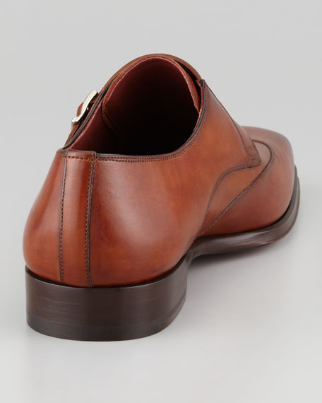 Double Monk-Strap Loafer, Cognac