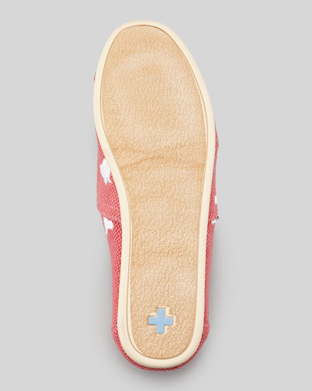 Bull Embroidered Canvas Slip-On