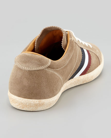 Monaco Suede Low-Top Sneaker, Tan