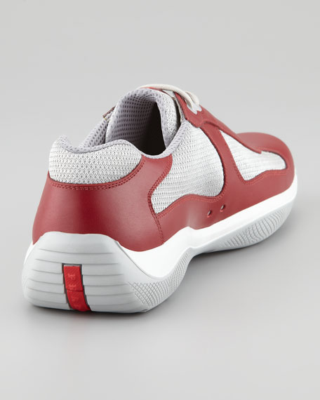 Nevada Leather Sneaker, Red