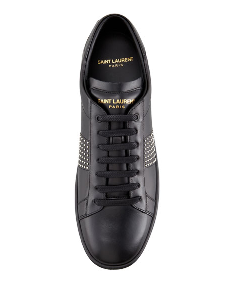 Saint Laurent Studded Sneaker, Black