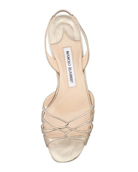 Espinasa Metallic Slingback Sandal
