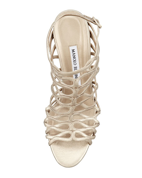 Coddila Strappy Metallic Sandal, Gold