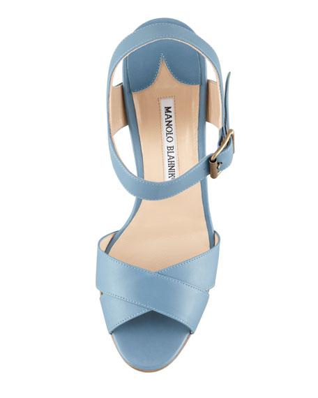 Adeustrap Ankle-Wrap Sandal, Blue