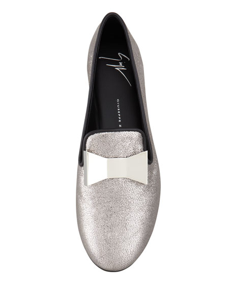 Metallic Bow Smoking Slipper