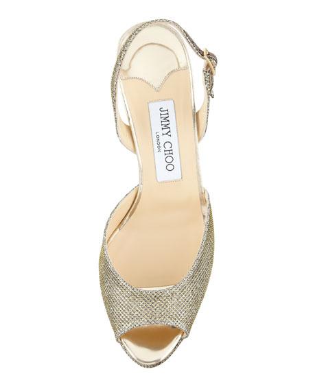 Brandy Glittered Slingback Sandal