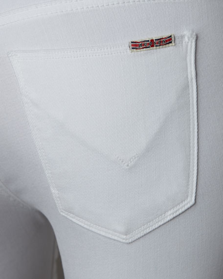 Nico Mid-Rise Super Skinny Jeans, White