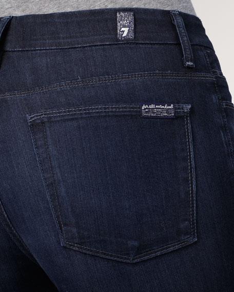 High Waist Flare Deep Blue Creek Jeans